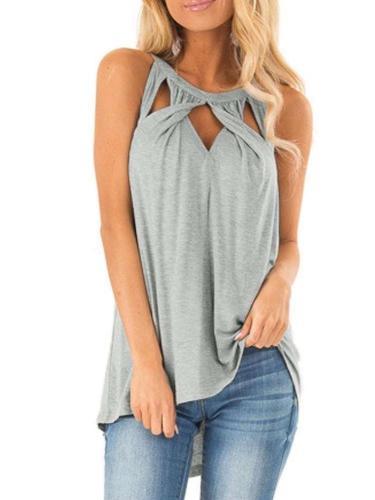 Sexy Cutout Sleeveless T-Shirts