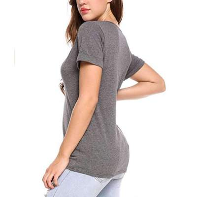 Sexy Pure V neck Short sleeve T-Shirts