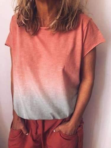 Fashion Gradient Short sleeve T-Shirts