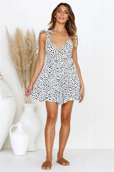 Sexy Leopard Vest Shift Dresses