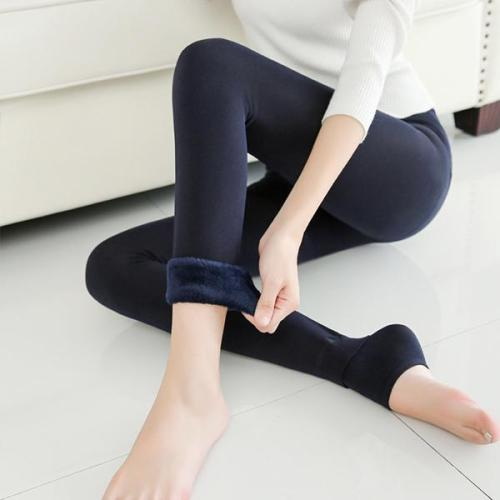 Autumn Winter Waist Support Cotton Velvet Seaweed Trample Feet Pants Render Pantyhose Thickening