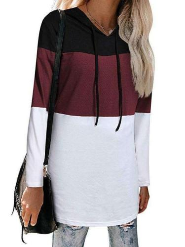 Fashion Gored Long sleeve Hoodies & Sweatshirts