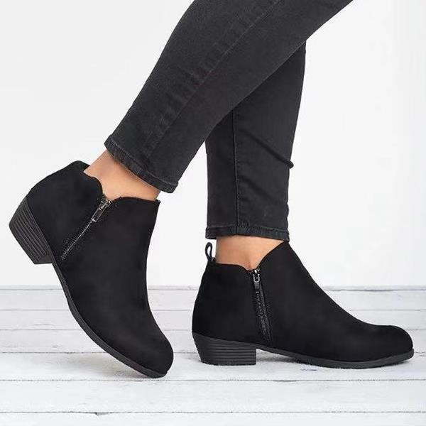 Fashion Low Heel Cute Short Boots