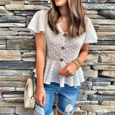 Fashion V neck Slim T-Shirts