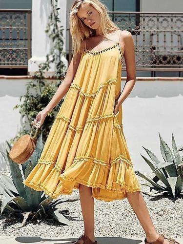 Pure Drape Beach Vest Maxi Dresses