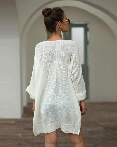 Fashion Loose Plus Off shoulder Knit Sweaters