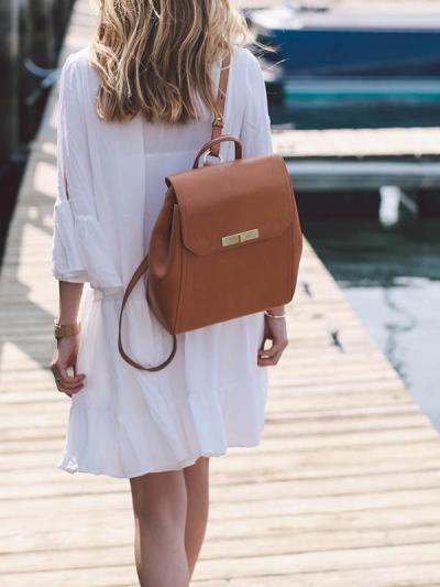 V neck White fashion Women Vacation Dresses