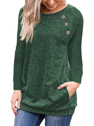 Long Sleeve Woman Round Neck T-shirts