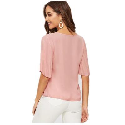 Fashion Fold sleeve Women T-Shirts