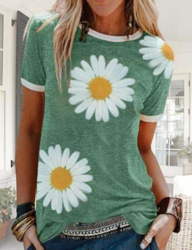 Fashion Print Round neck Short sleeve T-Shirts