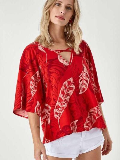 Fashion V neck Print Half sleeve T-Shirts