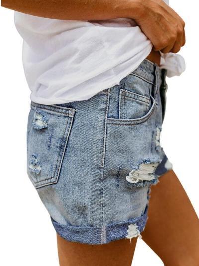 Slim loose blue short hot pants
