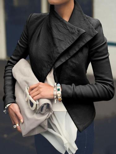 Slim large lapel Cool long sleeve coats