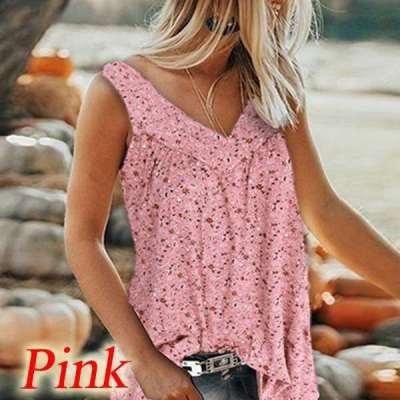 Fashion Print V neck Vest T-Shirts