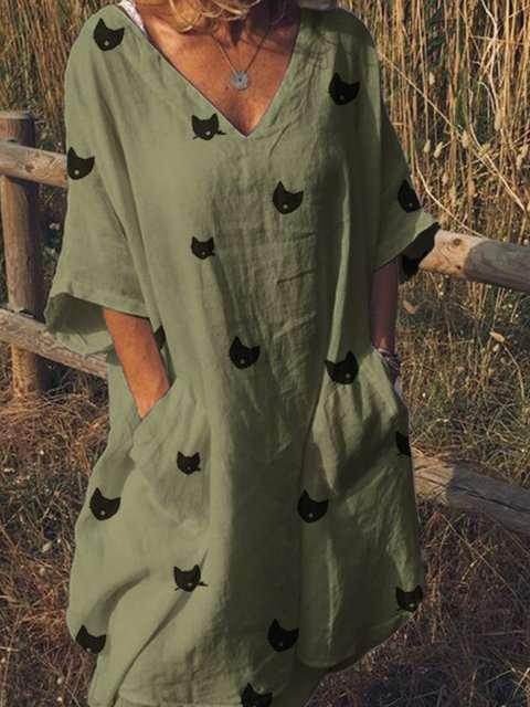 Fashion Short sleeve V neck Maxi Dresses