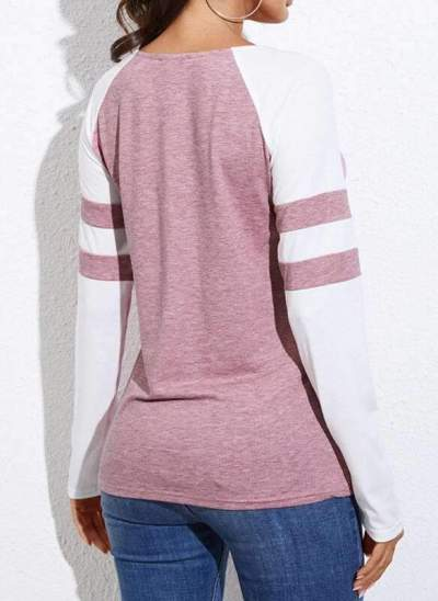 Fashion Sexy V neck Long sleeve Stripe T-Shirts