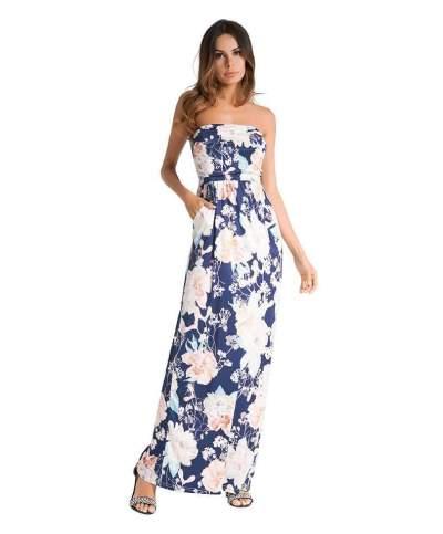 Sexy Print Vest Maxi Dresses