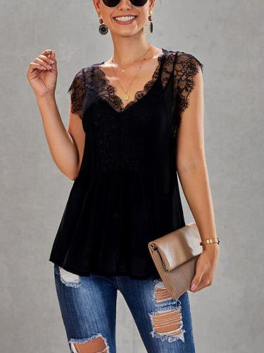 Women Sexy lace short sleeve T-shirts