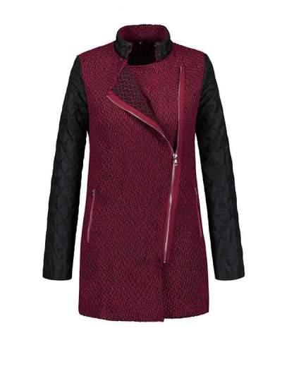 Cool women Zipper big lapel  jackets
