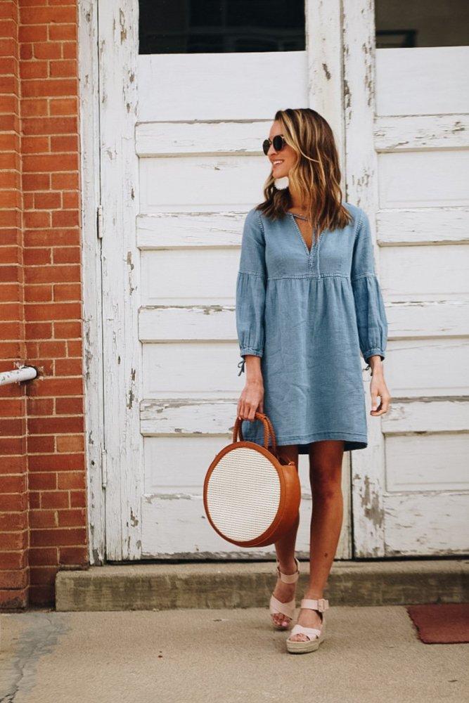 Fashion Plain Long Sleeve Casual Dresses