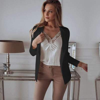Fashion Pure Lapel Long sleeve Blazer