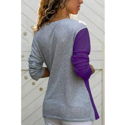 Fashion Cross V neck Knit Long sleeve Gored Lacing T-Shirts