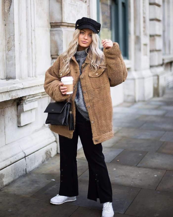 Fashion Lapel  Pocket Long sleeve Coats