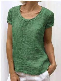 Fashion Pure Round neck Short sleeve T-Shirts