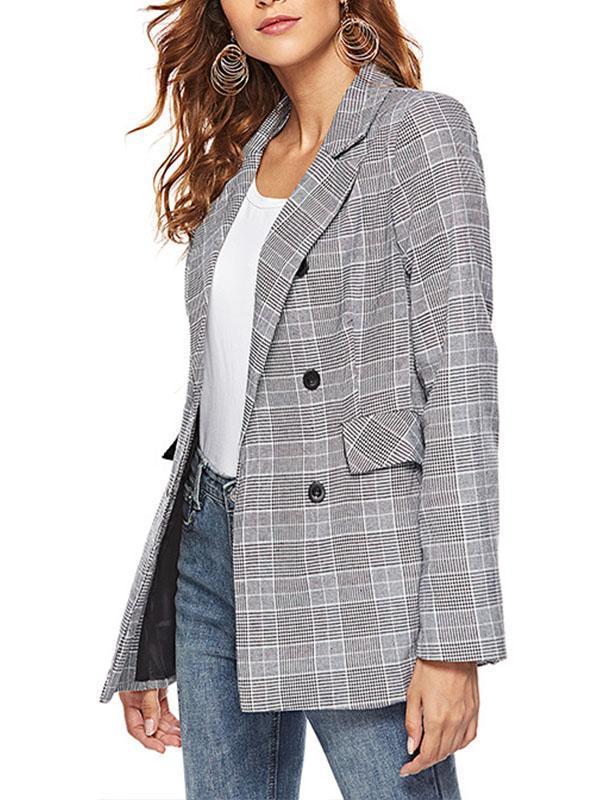 Fashion Grid Woman Autumn Blazers