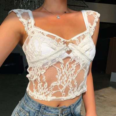 Sexy Lace Square collar Short sleeve T-Shirts