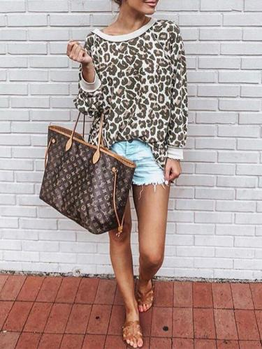 Colorful Leopard Autumn Long Sleeve Sweatshirts