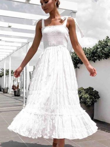 Fashion Pure Vest Skater Maxi Dresses