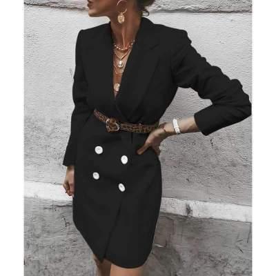 Fashion Casual Long sleeve Long Blazer Coat