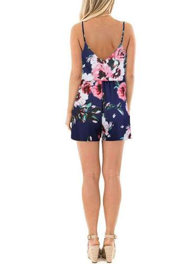 Fashion Print Vest V neck Jumpsuits