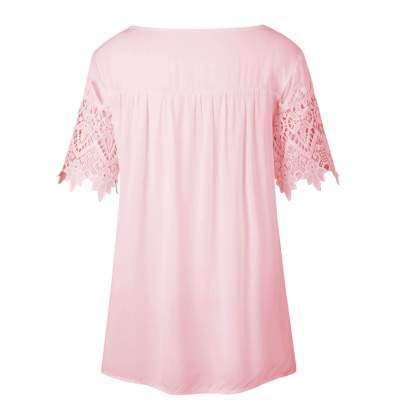 Sexy Lace Round neck T-Shirts