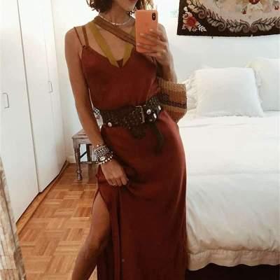 Sexy Pure Vest V neck Mesh Evening Dresses