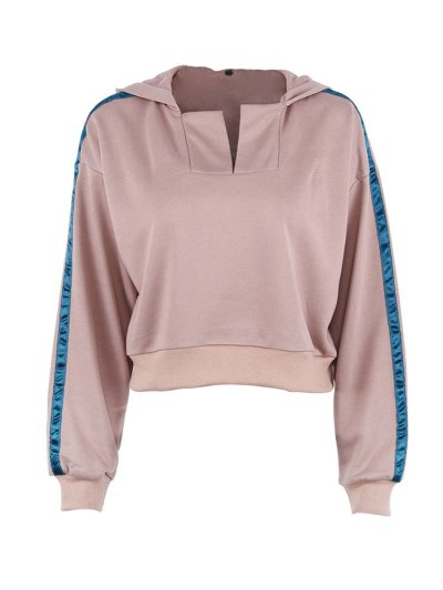 Fashion Long Sleeve Kahki Sweatshirts
