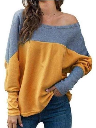 Casual Loose Plus Gored Off shoulder T-Shirts
