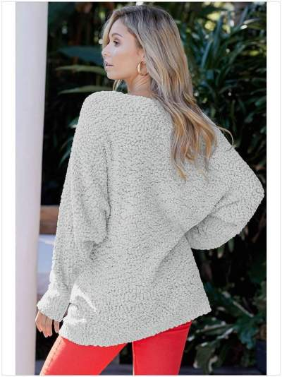 Fashion Knit Round neck Long sleeve Sweaters