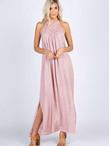 Fashion Loose  Halt Cutout Maxi Dresses