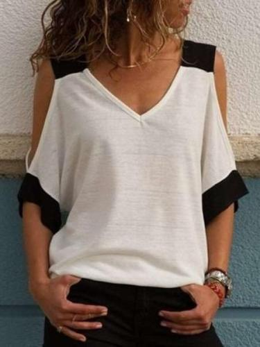 New Fashion Off shoulder V neck T-Shirts