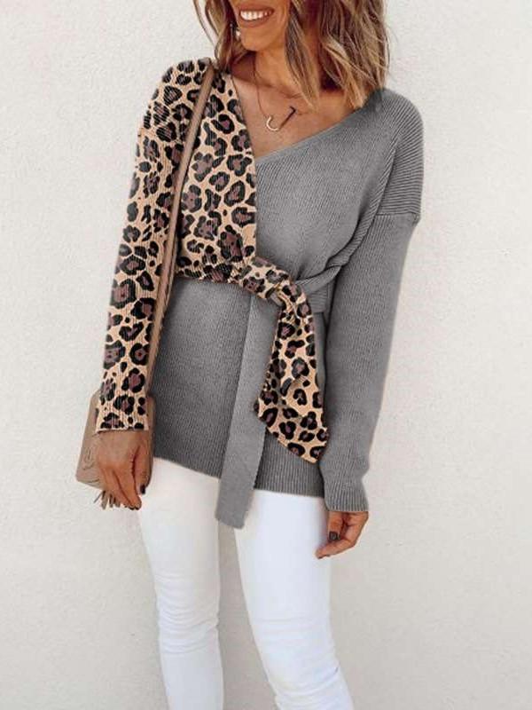 Fashion Gired Long sleeve V neck Lacing T-Shirts