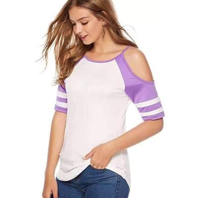Loose Off shoulder Short sleeve T-Shirts