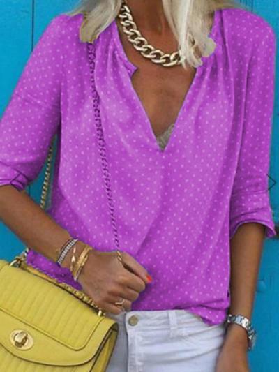 Women loose printed long sleeve t-shirts