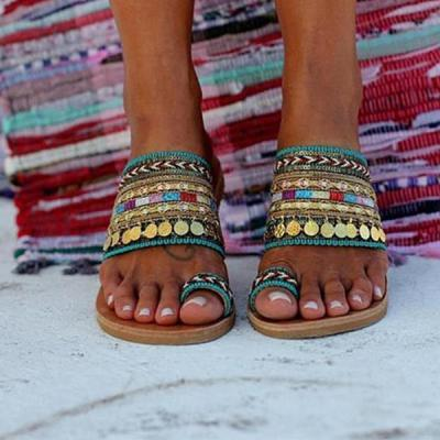 Elebrity Style Bohemian Slippers Sandals