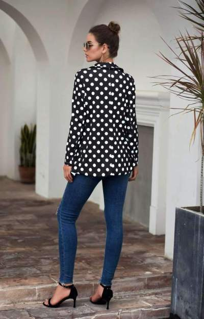 Fashion Lapel Point Long sleeve Blazer