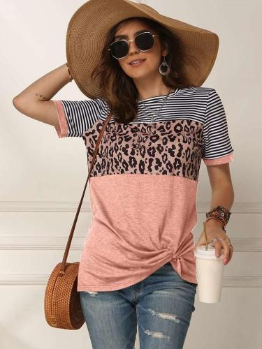 Fashion Round neck Gored Short sleeve T-Shirts