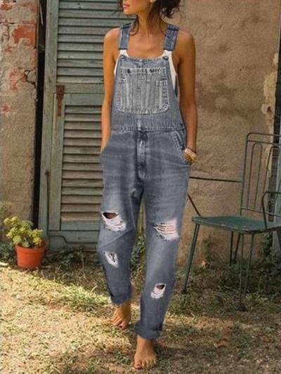 Fashion Vest Jeans Jumpsuits
