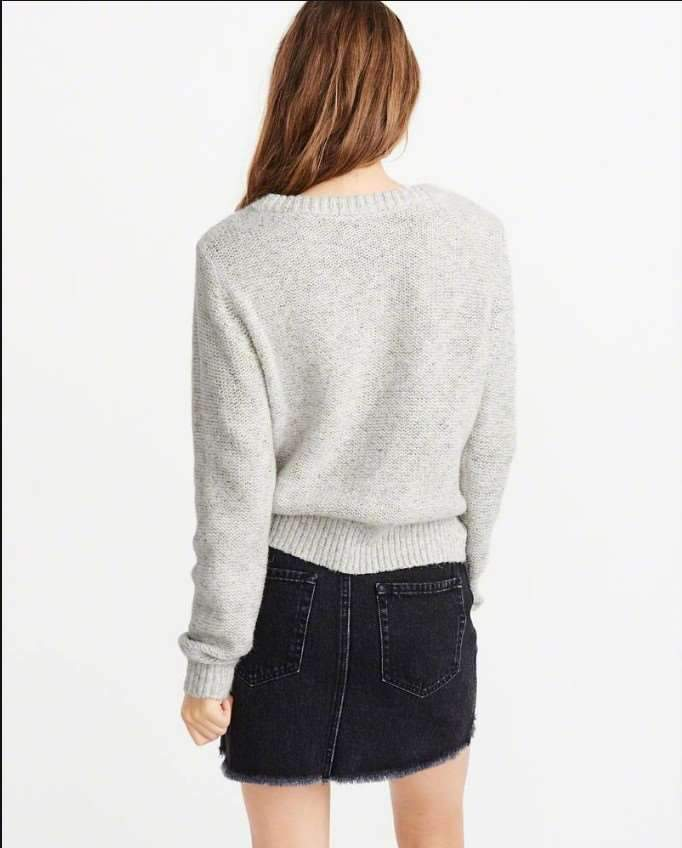 Fashion Pure Purl Round neck Long sleeve Sweaters
