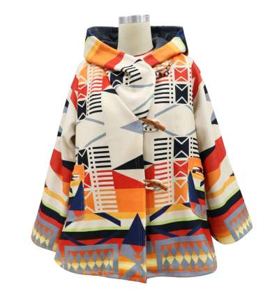 Fashion Casual Print Long sleeve Hoodie Pocket Trench Coats